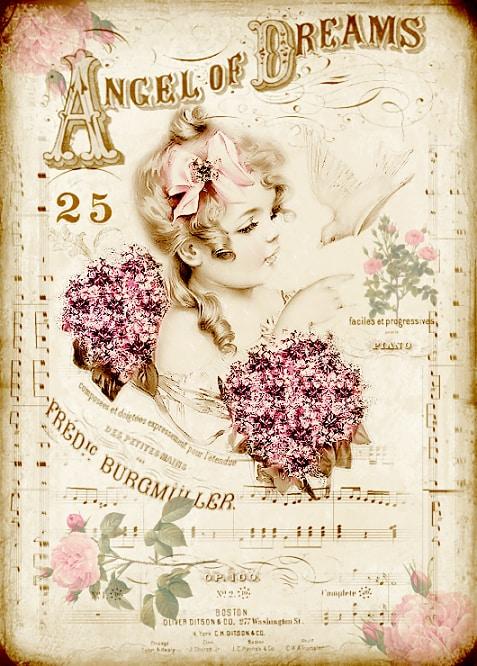 Vintage beautiful images - Angel of Dreams