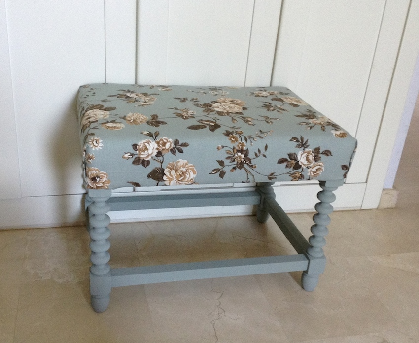 Floral Stool Makeover