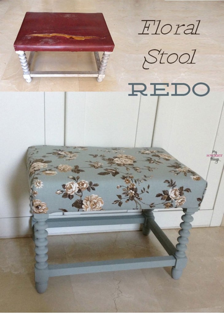 Floral Stool Redo