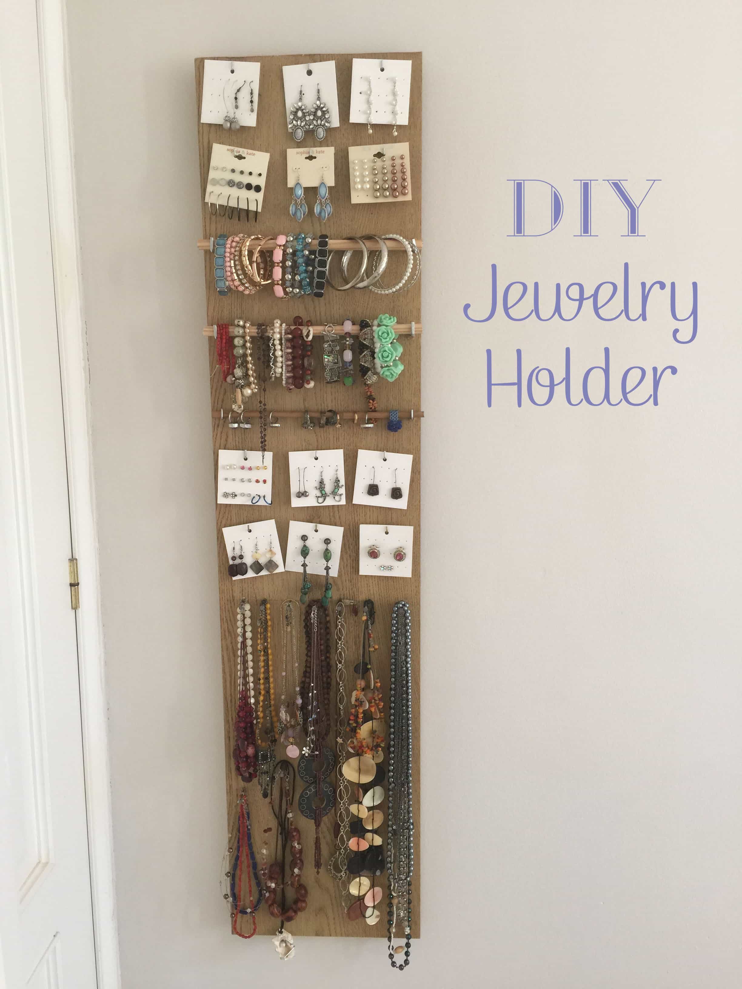 Love Jewelry? Make your own DIY Jewelry Holder to fit your needs.