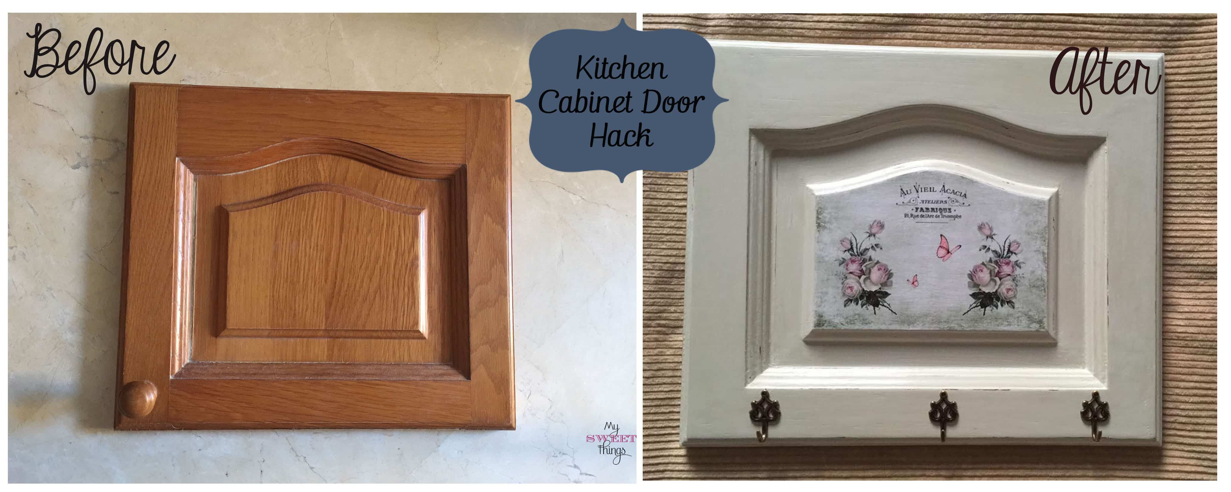 Kitchen Cabinet Door Hack - Before & After