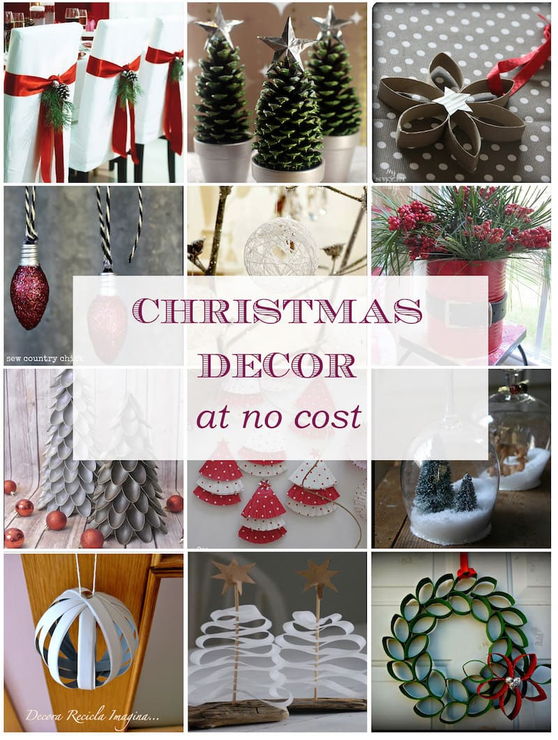 Christmas Decoration at no Cost | Christmas Ornaments | Via www.sweethings.net