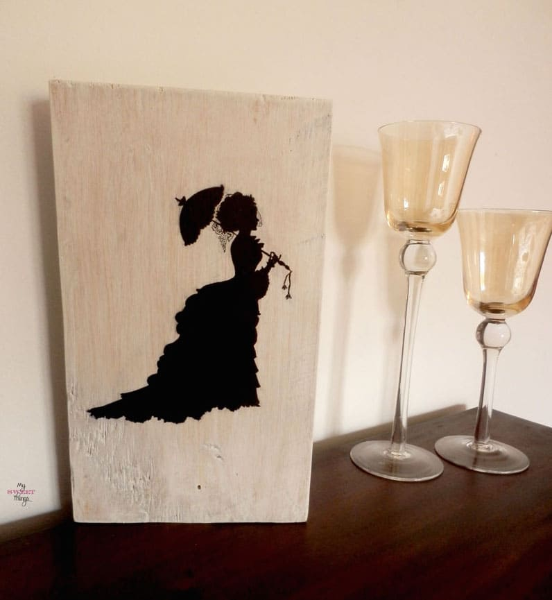 Vintage Lady Silhouette Wall Art