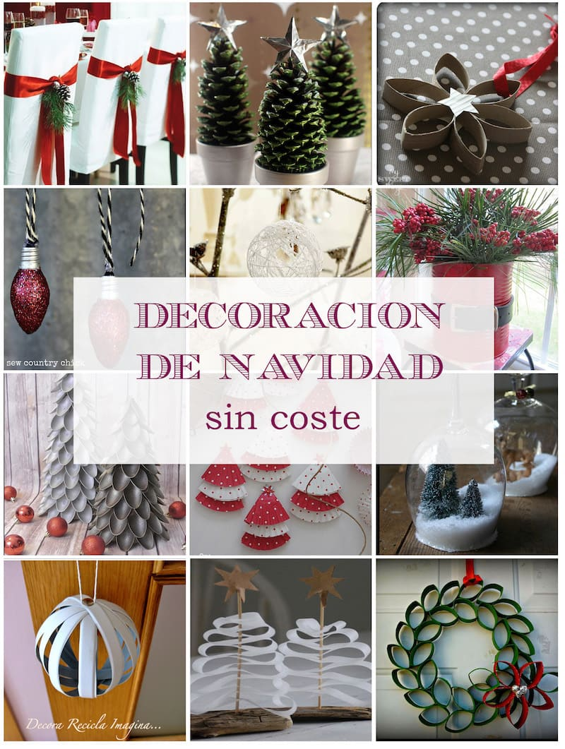 Christmas decor at no cost - Via www.sweethings.net