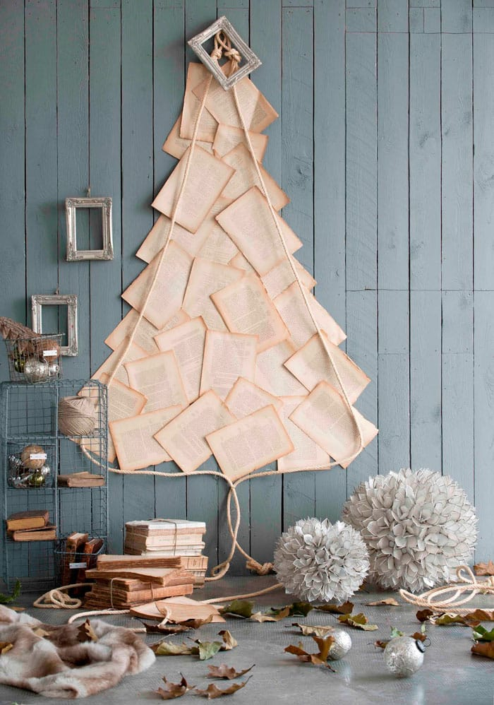 DIY alternative Christmas trees made out of recycled or up cycled objects | Via www.sweethings.net