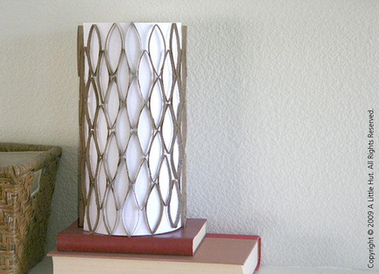 Lamp with toilet paper rolls | Reuse & recycle | DIY | Via www.seethings.net
