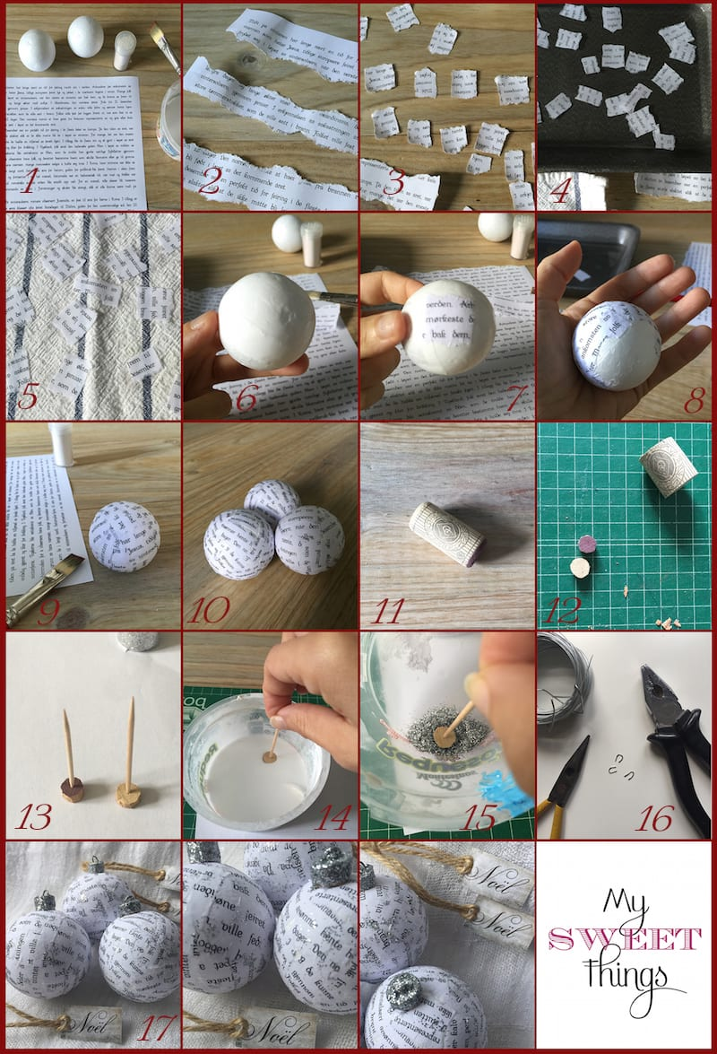 2015 Ornament Exchange - Nordic Ball Ornament | Via www.sweethings.net