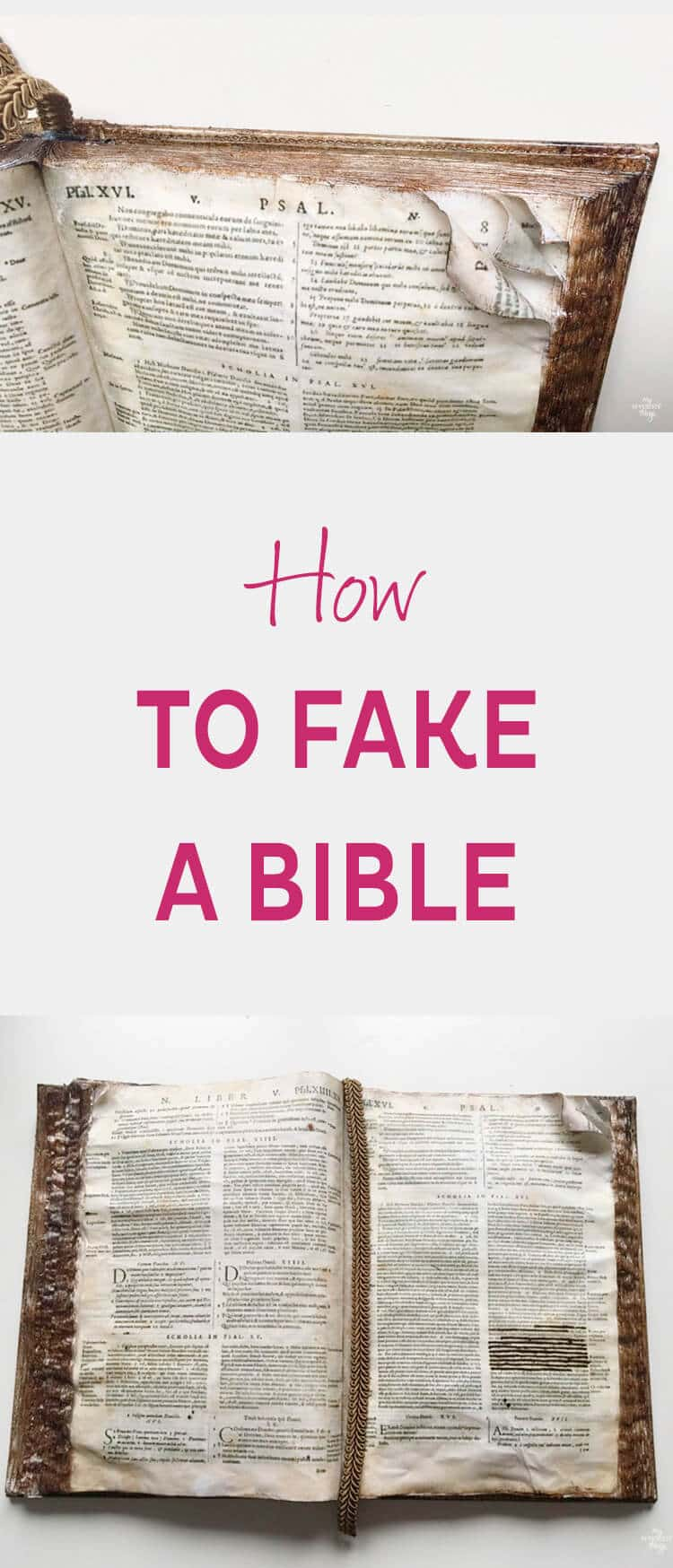How to fake a bible with an old planner and very few materials · Via www.sweethings.net