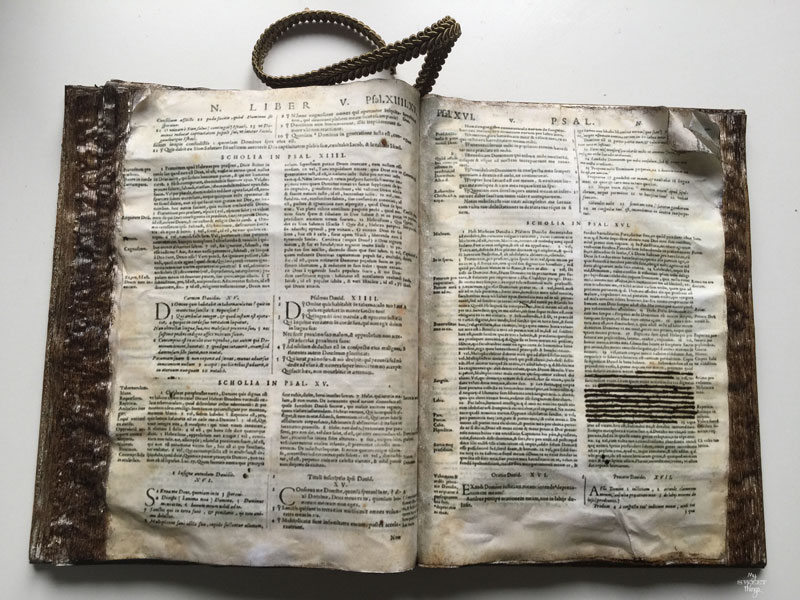 Fake Old Codex | Old Bible | Via www.sweethings.net