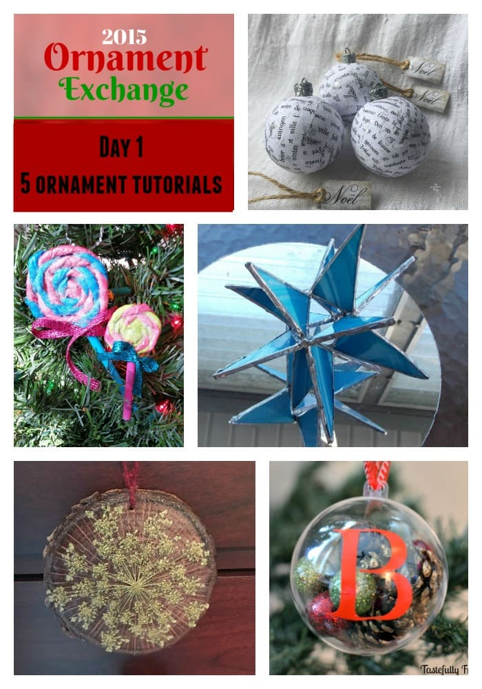2015 Ornament Exchange - Nordic Ball Ornament | Via www.sweethings.net