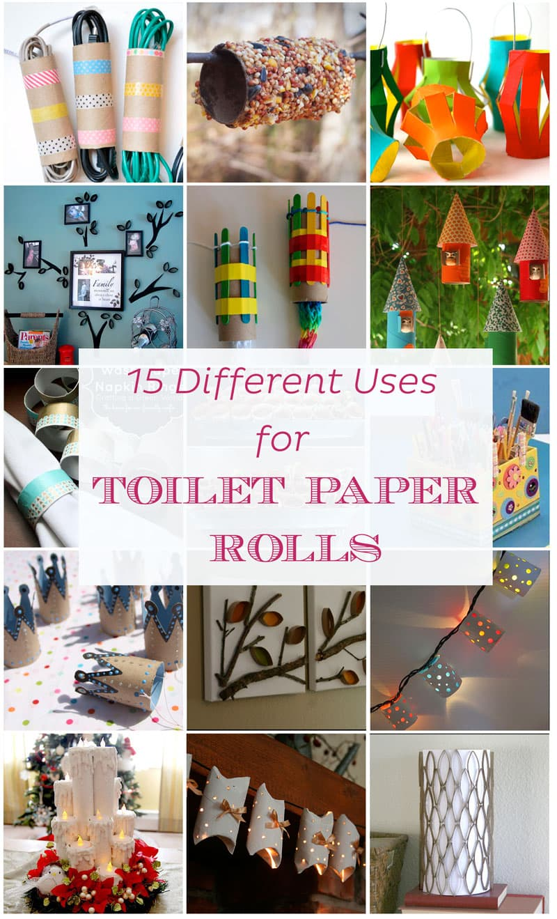 15 different and creative ideas with toilet paper rolls | Reuse & recycle | DIY | Via www.seethings.net