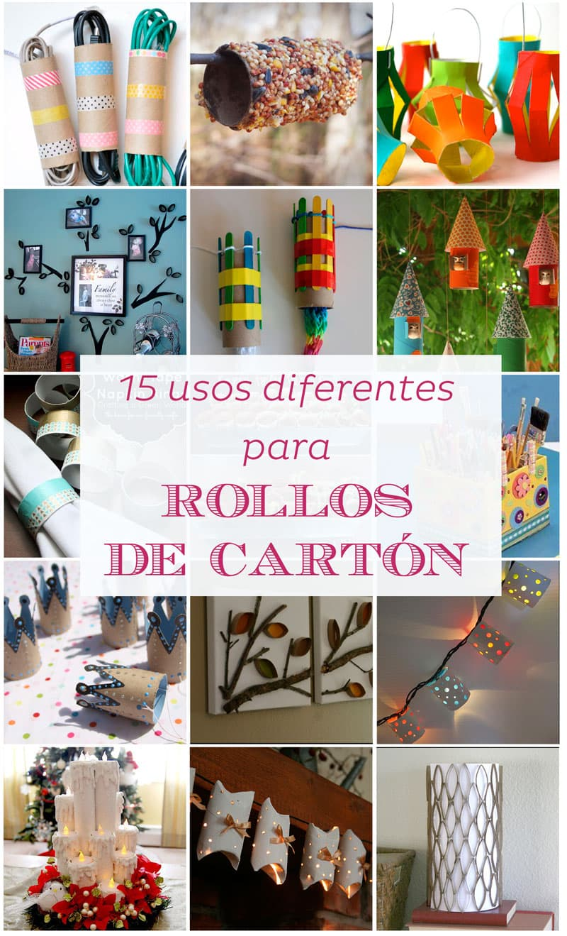Ideas creativas con rollos de carton | Reciclar | DIY | Via www.sweethings.net