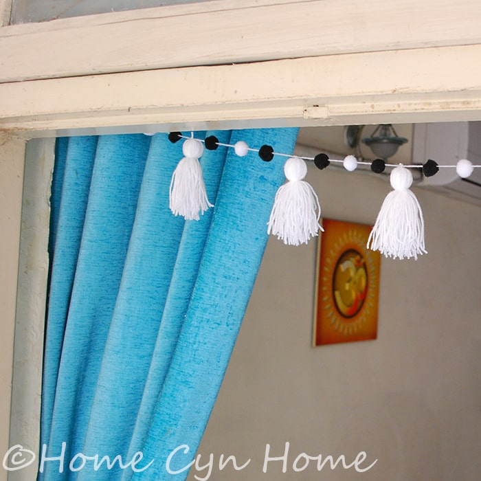 White tassel garland project - DIY craft