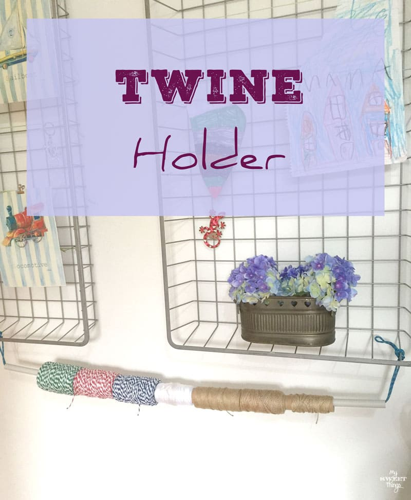 How to make a twine holder out of a plastic tube for your craft room