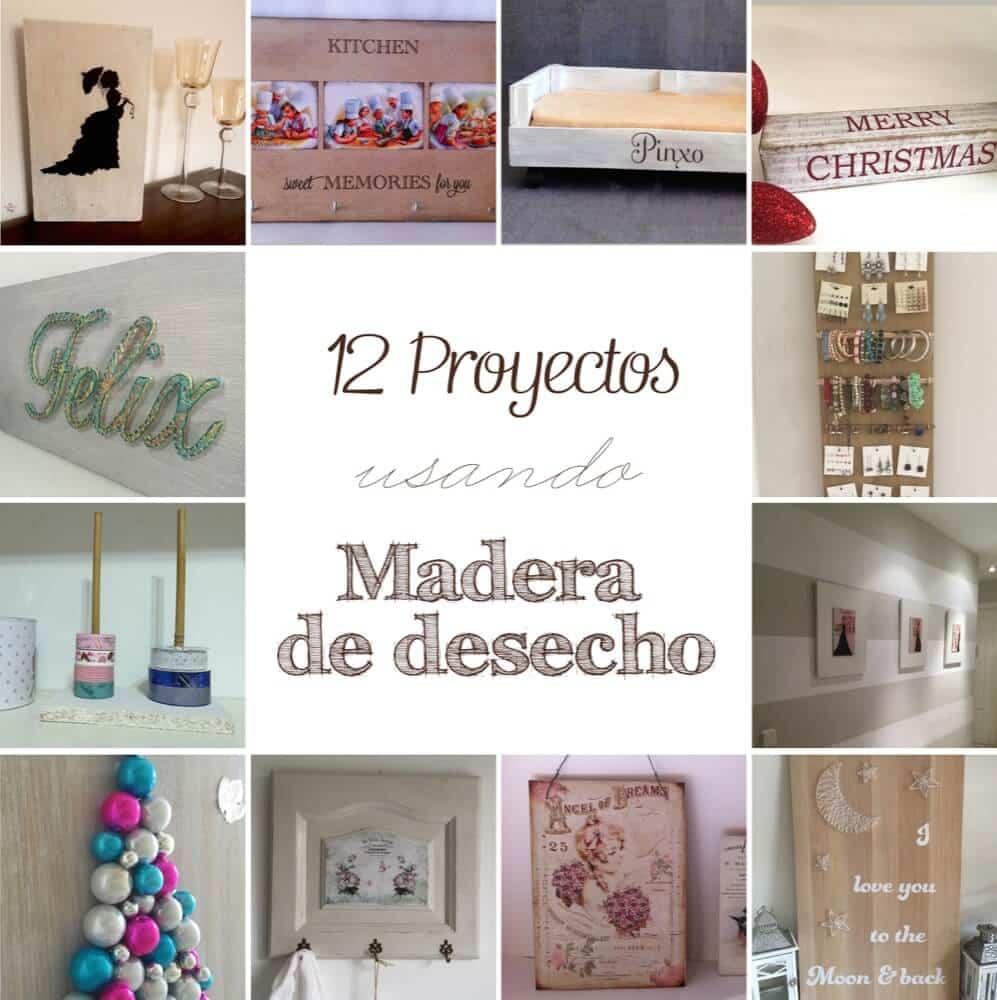 12 Proyectos usando madera reciclada y de desecho