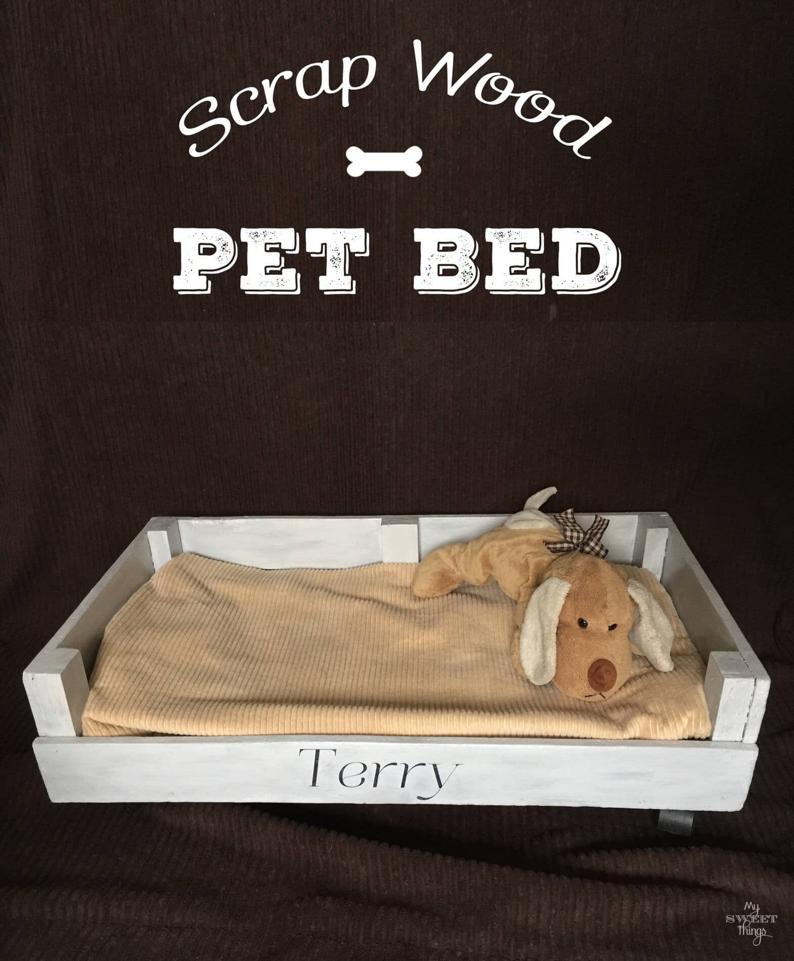 How to make a pet bed out of scrap wood