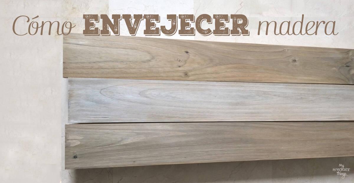 Como hacer el efecto de madera desgastada o envejecer madera - Como decapar un mueble en blanco ...