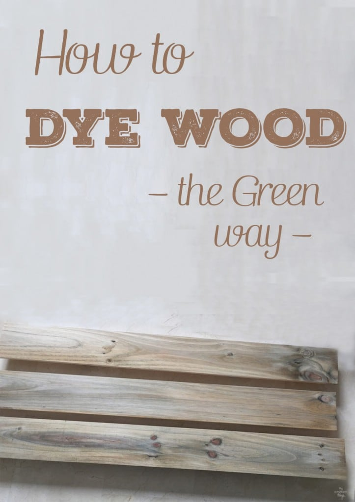 Have you ever wondered how to dye wood the green way, without chemicals? This tutorial will guide you in the process, you only need a few supplies like vinegar and steel wood