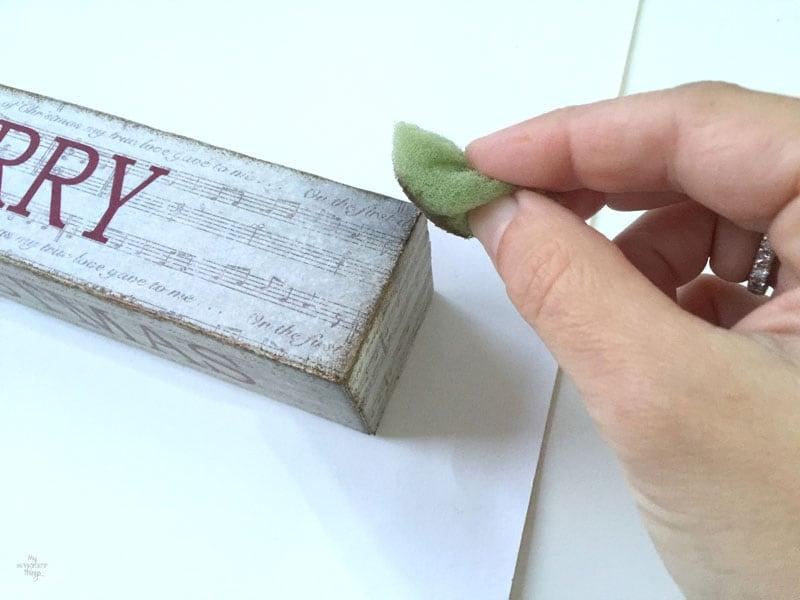 How to make Christmas decoration using scrap wood - Handmade Christmas blog hop