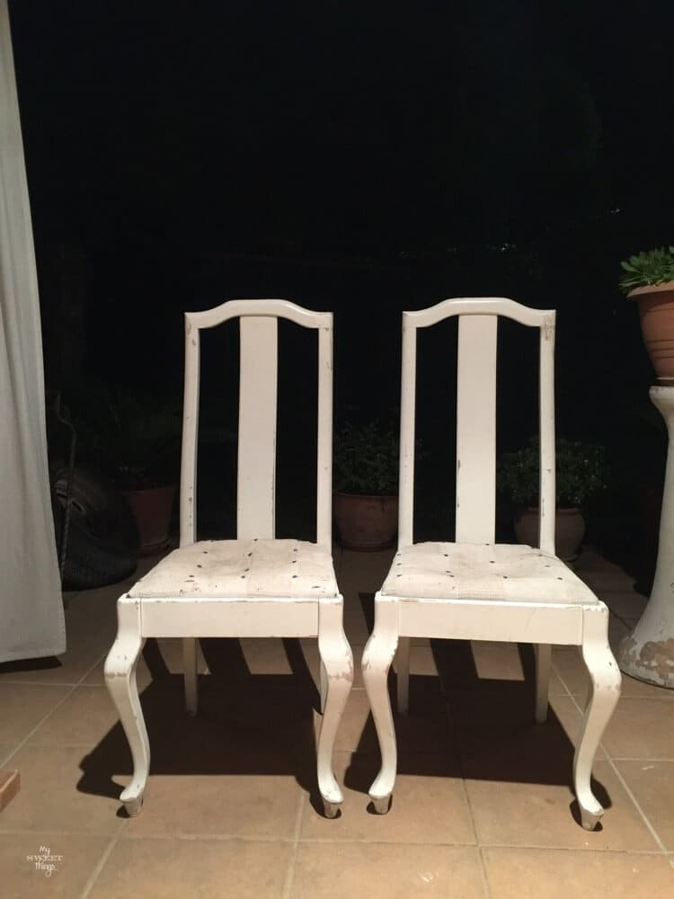 How a headboard and a chair ended up together - the chairs
