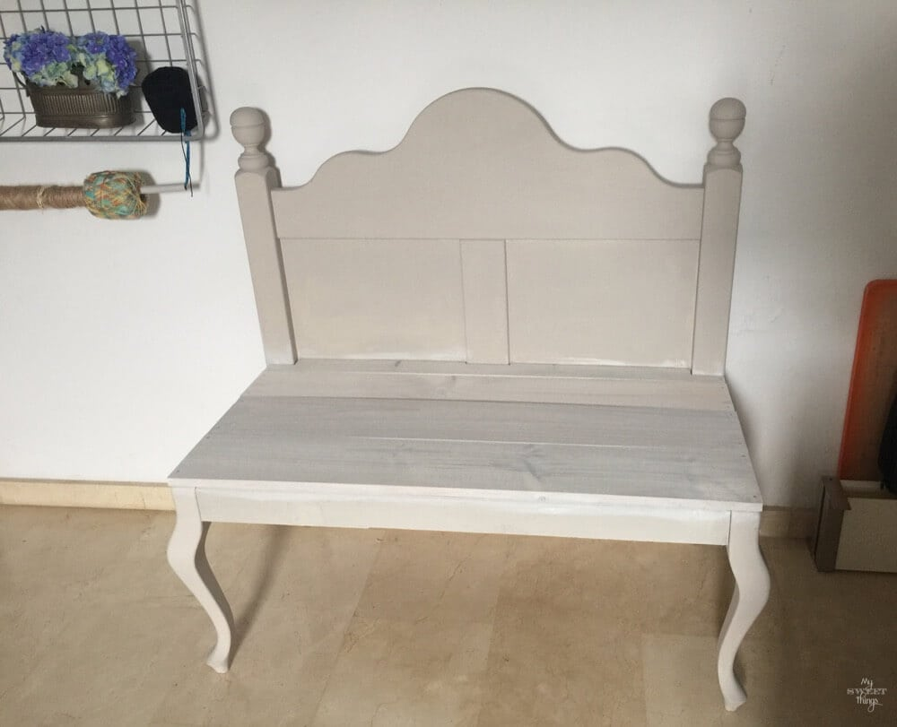 How a headboard and a chair ended up together - the finished structure