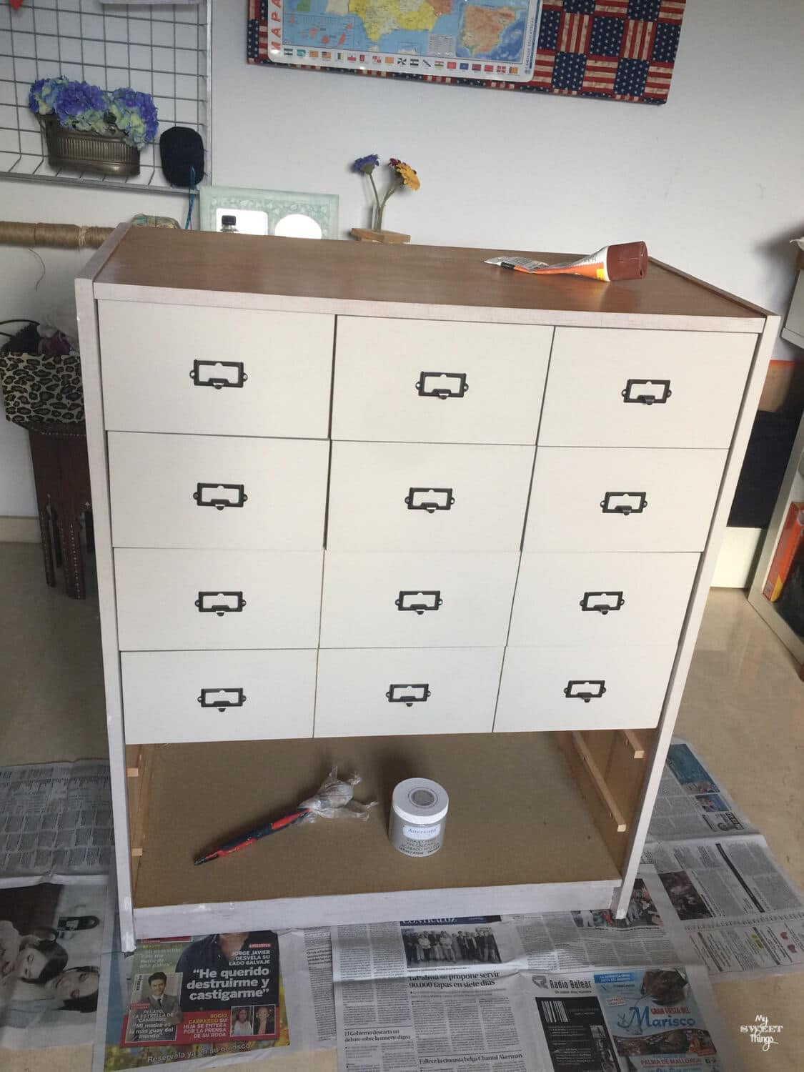 How to turn an old dresser into a faux card catalog the easy and cheap way