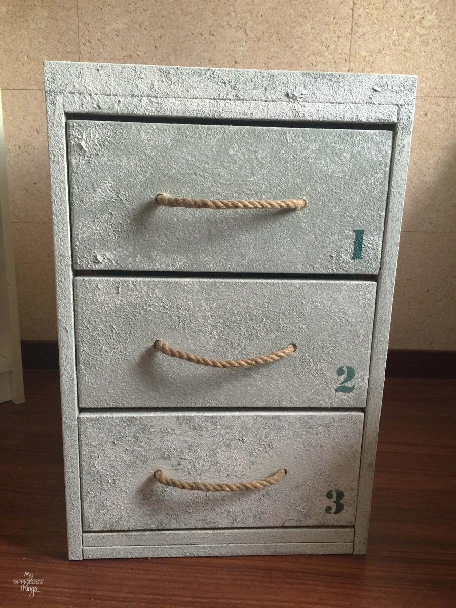 Coastal Filing Cabinet Makeover 31