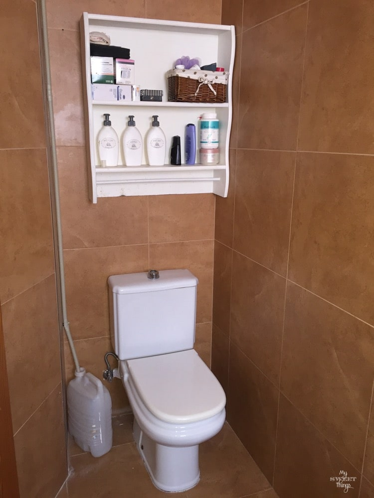 Ugly small bathroom waiting for some work on it