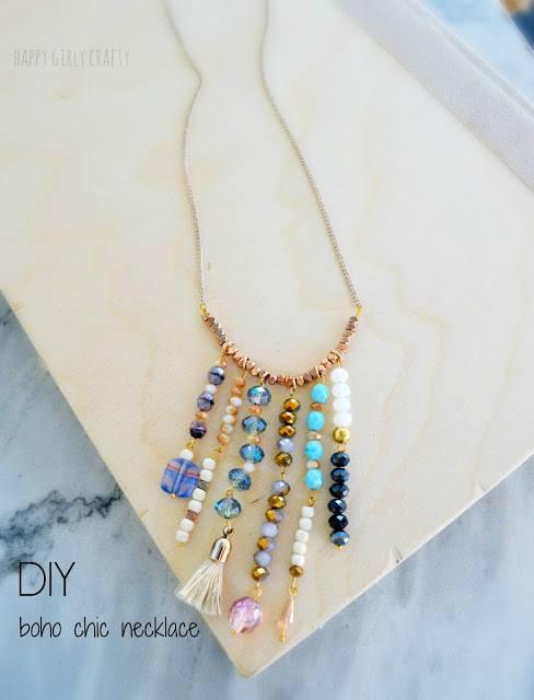 Boho chic necklace