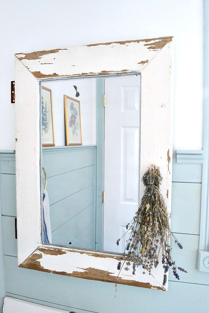 DIY Farmhouse Mirror Tutorial - Turn a salvaged window into a farmhouse mirror in just a few easy steps