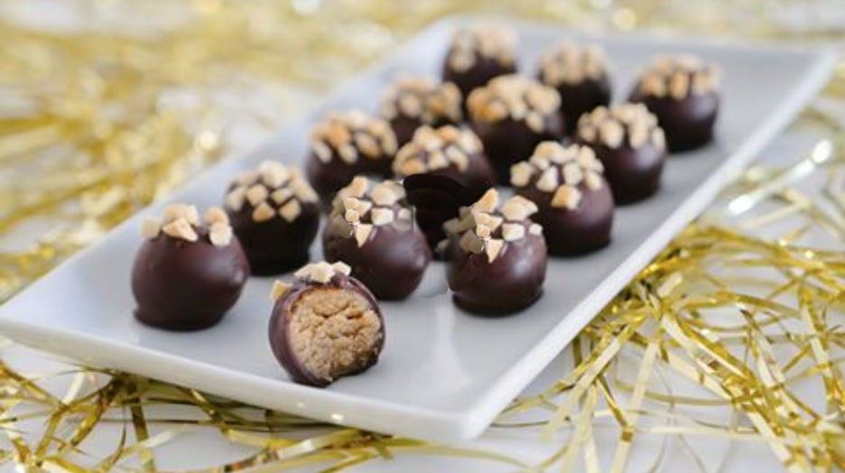 Healthy delightful desserts · Peanut butter cookie dough truffles