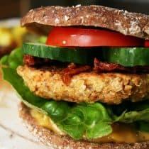 white bean burger - vegan and gluten free burger