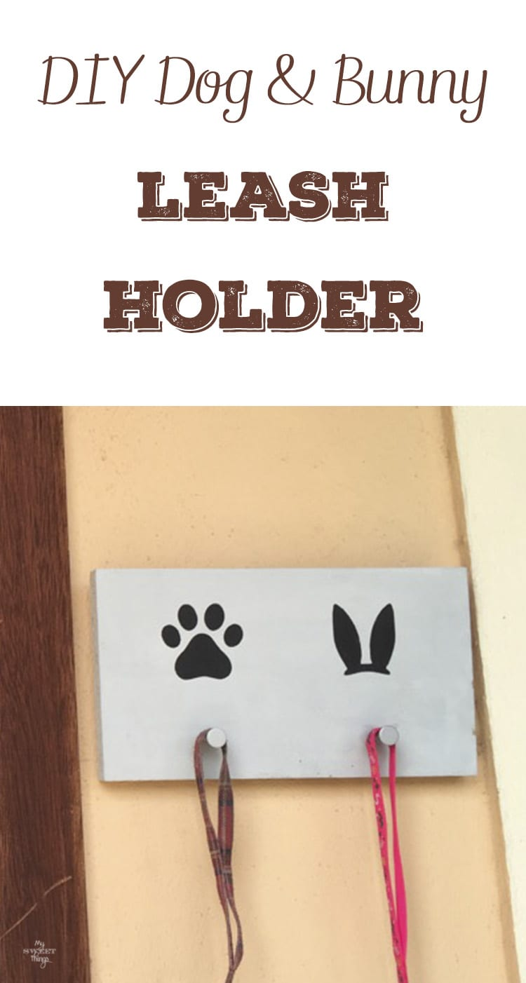 DIY dog and bunny leash holder · Via www.sweethings.net