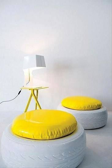 Stools · 15 Different Uses For Tires · Some easy ideas to recycle old tires · Via www.sweethings.net