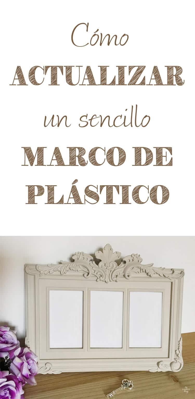 Cómo actualizar un sencillo marco de plástico con un poco de pintura · Via www.sweethings.net