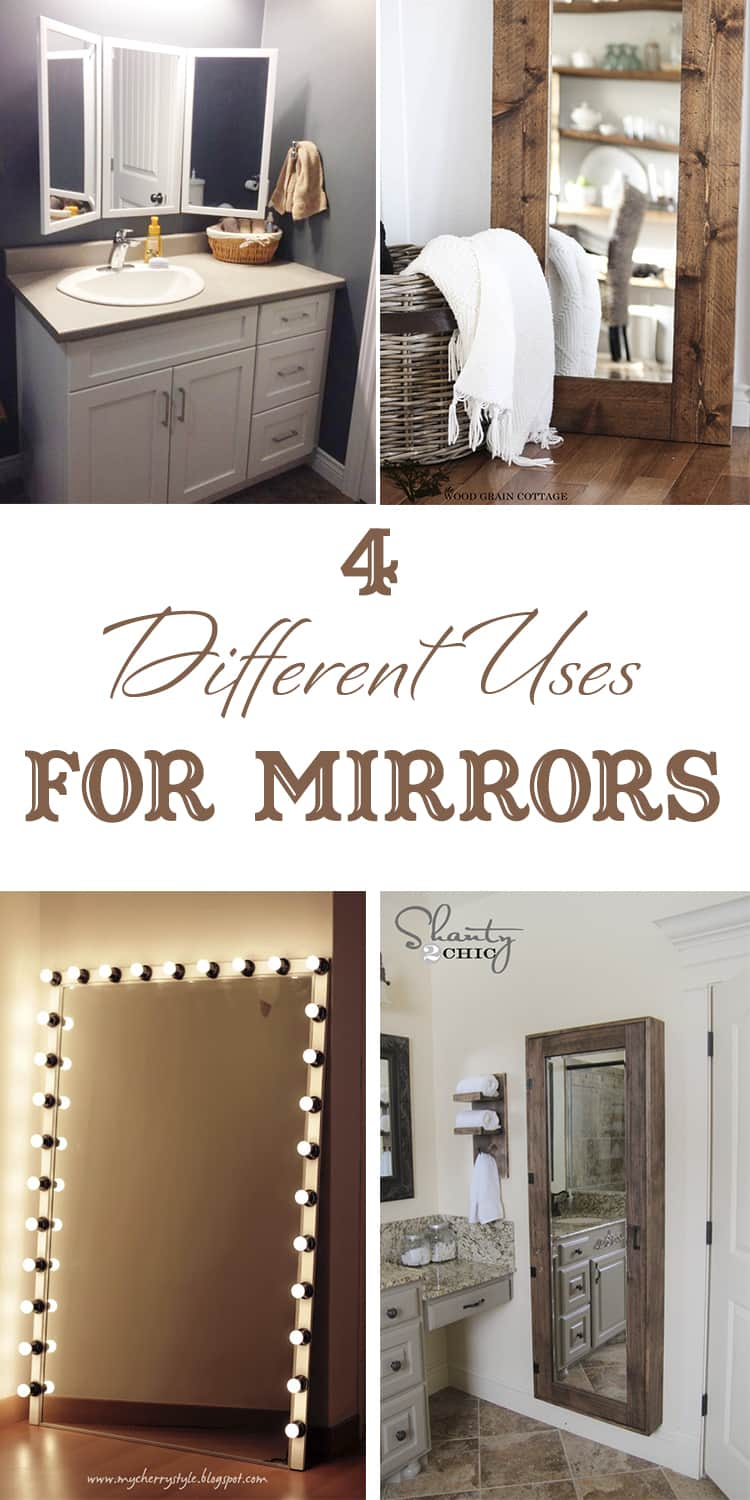 4 different uses for mirrors · Via www.sweethings.net