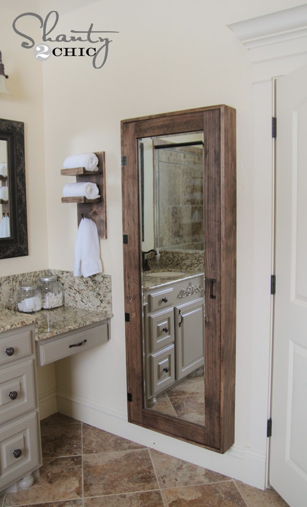 4 different uses for mirrors · Storage mirror · Via www.sweethings.net