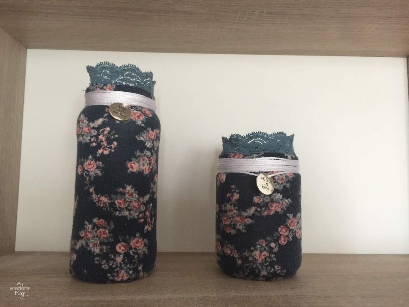Glass jars used as home decor  ·  Via www.sweethings.net