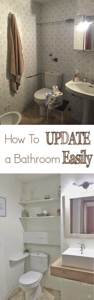 How to update an outdated bathroom easily · Via www.sweethings.net