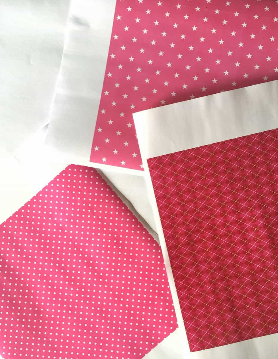 Handmade Valentine Gift - How to Make a Paper Heart Pouch - Pink papers via www.sweethings.net