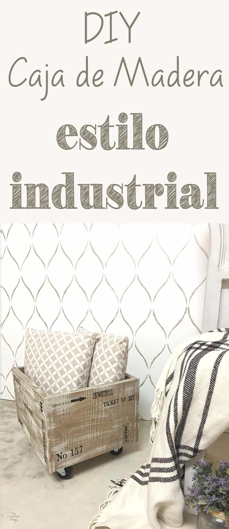 Como hacer una caja de madera estilo industrial por poco dinero · Via www.sweethings.net