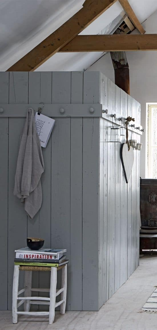 Common indicators of needing a new water heater and how to hide them   ·  Old barn wood with hooks  ·  Via www.sweethings.net