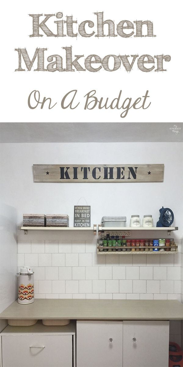 DIY Kitchen makeover on a budget | #kitchen #makeover #remodel #farmhouse #diy #homedecor | Via www.sweethings.net