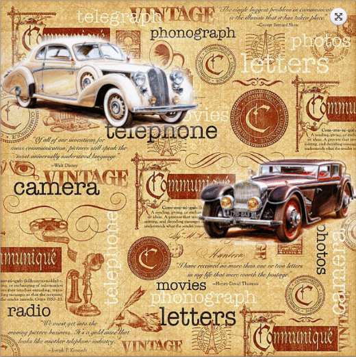 Vintage Communication   |   Men Inspiration   |   Digital collage with vintage paper and classic cars   |   Via www.seethings.net