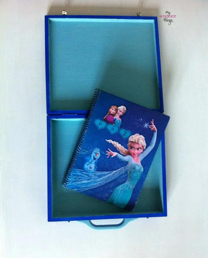 Frozen box and notepad