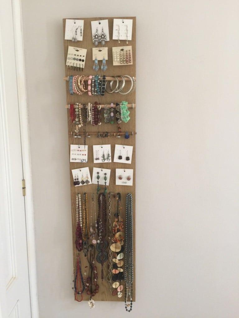 Joyero / Organizador de abalorios con madera reciclada  -  DIY
