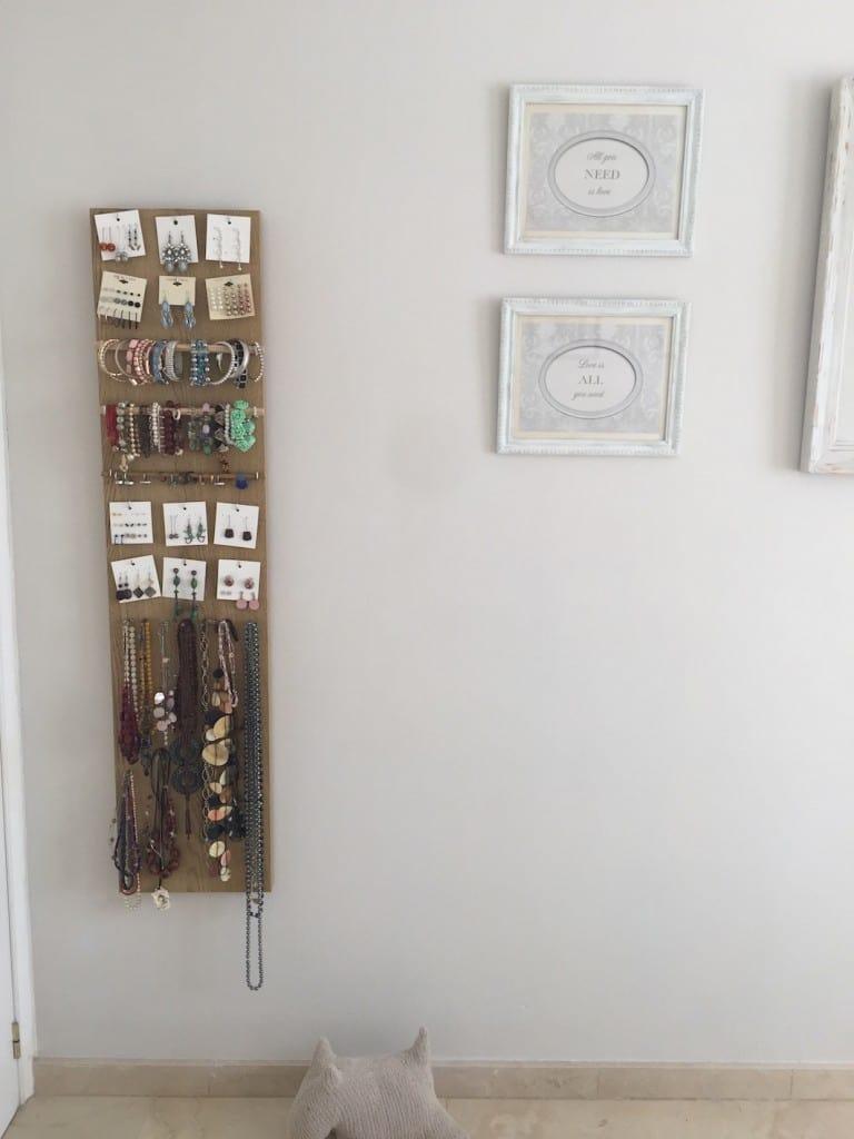 Organizador de abalorios con madera reciclada  -  DIY