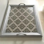Repurposed frame into tray