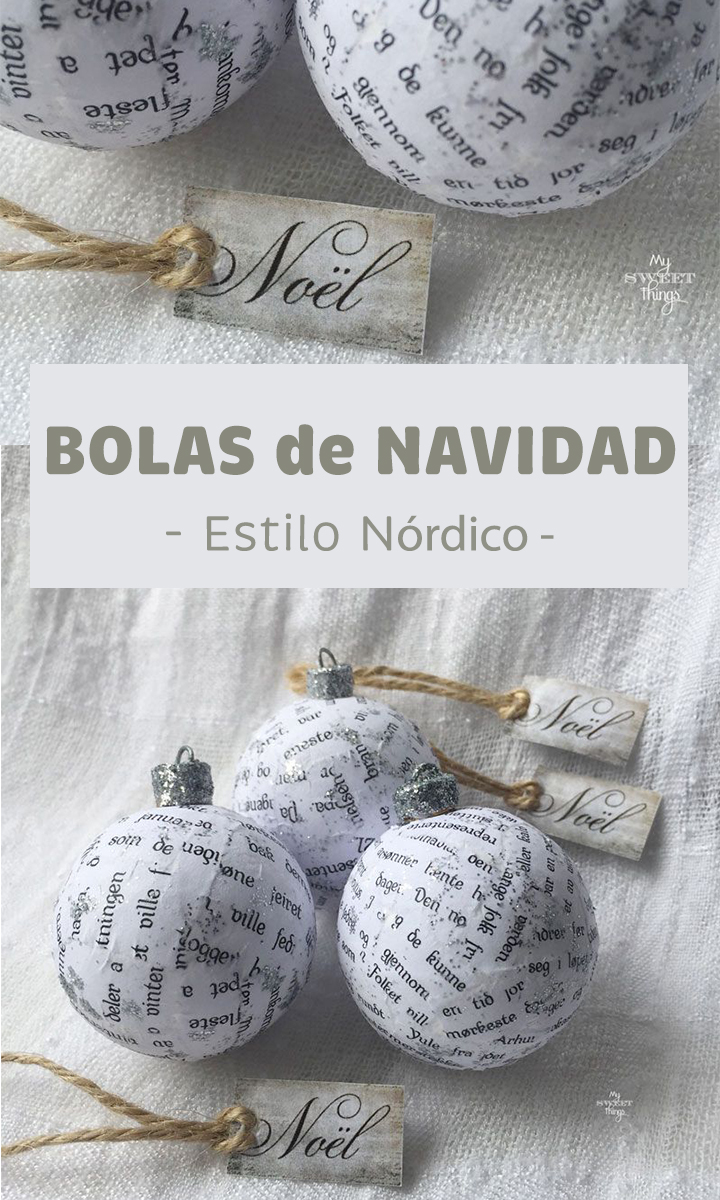 Bolas de Navidad estilo nórdico · Via www.sweethings.net