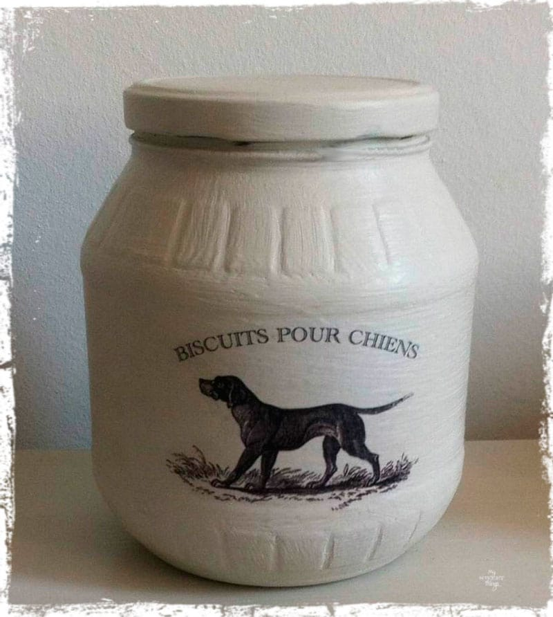 Treat jar for our doggie   |   Vintage Dog Image   |   Via www.sweethings.net